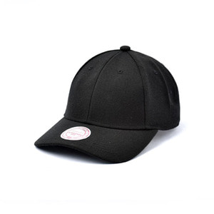 미첼엔네스 블랭크 로우 프로 스냅백, MitchellandNess BLANK LOW PRO CURY SNAPBACK - BLACK