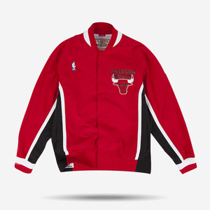 미첼엔네스 NBA 시카고불스 웜업 어센틱 자켓,MitchellandNess CHICAGO BULLS AUTHENTIC WARM UP JACKET