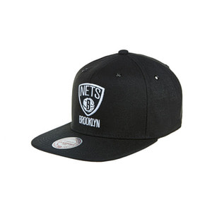 미첼엔네스 브루클린 네츠 스냅백, MitchellandNess BROOKLYN NETS SNAPBACK - BLACK/WHITE