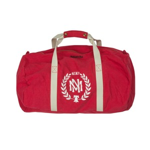 미첼엔네스 로고 더블백 (레드), MitchellandNess E LAUREL DUFFLE BAG (RED)