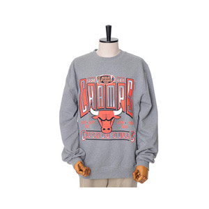 미첼엔네스 NBA 시카고불스 챔프 맨투맨, MitchellandNess CHICAGO BULLS WINNER TAKES ALL CREW SWEATSHIRTS - GREY