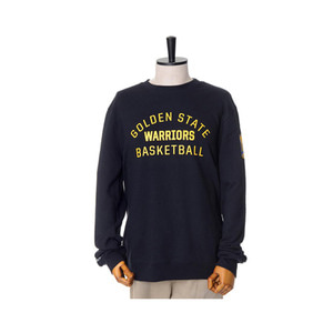 미첼엔네스 NBA 골든스테이트 워리어스 팀이슈 맨투맨, MitchellandNess GOLDEN STATE WARRIORS TEAM ISSUED CREW SWEATSHIRTS - BLACK