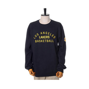 미첼엔네스 NBA LA 레이커스 팀이슈 맨투맨, MitchellandNess LA LAKERS TEAM ISSUED CREW SWEATSHIRTS - BLACK