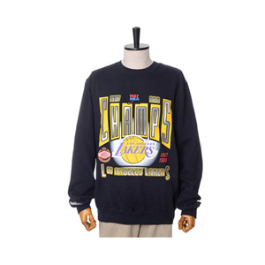 미첼엔네스 NBA LA 레이커스 챔프 맨투맨, MitchellandNess LA LAKERS WINNER TAKES ALL CREW SWEATSHIRTS - BLACK