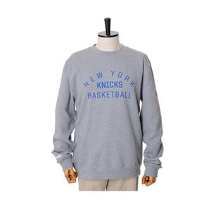 미첼엔네스 NBA 뉴욕닉스 팀이슈 맨투맨, MitchellandNess NEWYORK KNICKS TEAM ISSUED CREW SWEATSHIRTS - GREY HEATHER