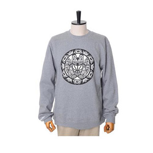 미첼엔네스 NBA 밴쿠버 그리즐리스 맨투맨, MitchellandNess VANCOUVER GRIZZLIES BLACK/WHITE LOGO CREW SWEATSHIRTS - GREY