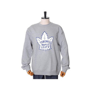 미첼엔네스 NHL 토론토메이플 리프스 팀로고 맨투맨, MitchellandNess TORONTO MAPLE LEAFS TEAM LOGO CREW SWEATSHIRTS - GREY HEATHER