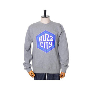 미첼엔네스 NBA 샬롯호네츠 버즈시티 로고 맨투맨, MitchellandNess CHARLOTTE HORNETS BUZZ CITY LOGO CREW SWEATSHIRTS - GREY HEATHER