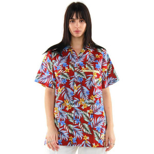 [EPTM] HAWAIIAN TRACK SHIRT (RED) - 풋셀스토어