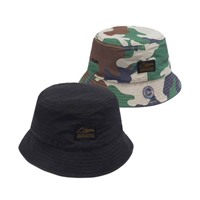 스티그마 STIGMA STGM REVERSIBLE BUCKET CAP BLACK - 풋셀스토어