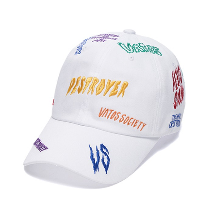 스티그마 STIGMA DESTROYER BASEBALL CAP WHITE - 풋셀스토어