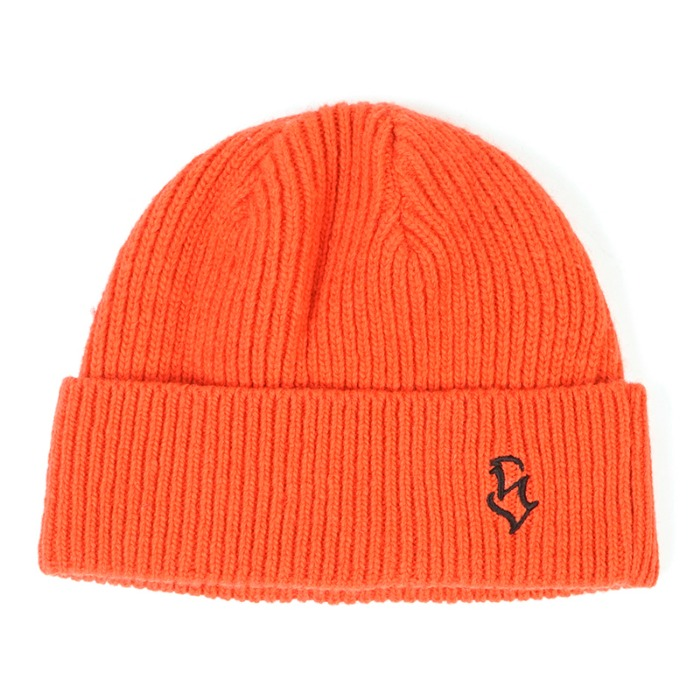 스티그마 STIGMA S - LOGO WOOL SHORT BEANIE ORANGE - 풋셀스토어
