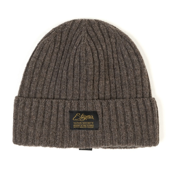 스티그마 STIGMA LABEL WOOL BEANIE BEIGE - 풋셀스토어