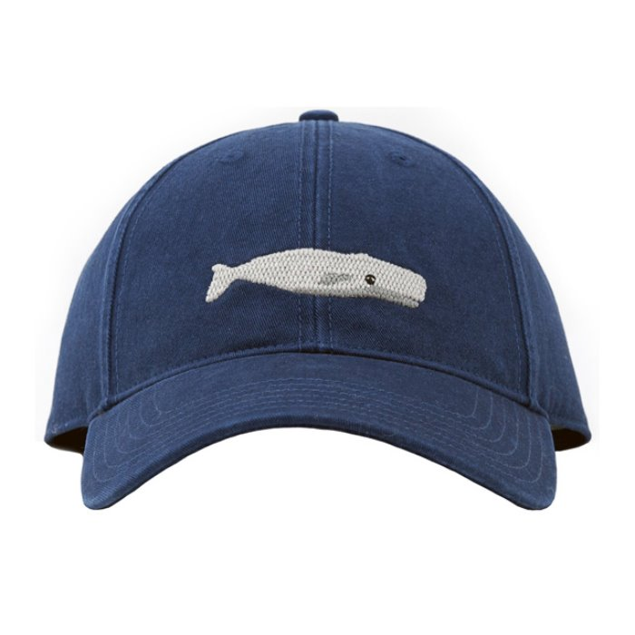[하딩레인] Adult`s Hats White whale on Navy blue - 풋셀스토어