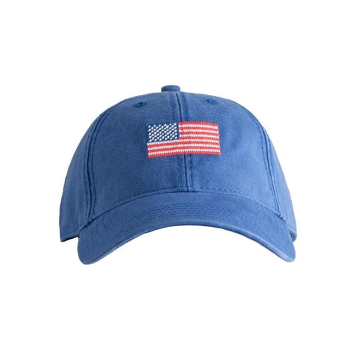 [하딩레인] Adult`s Hats American Flag on Bright Navy - 풋셀스토어