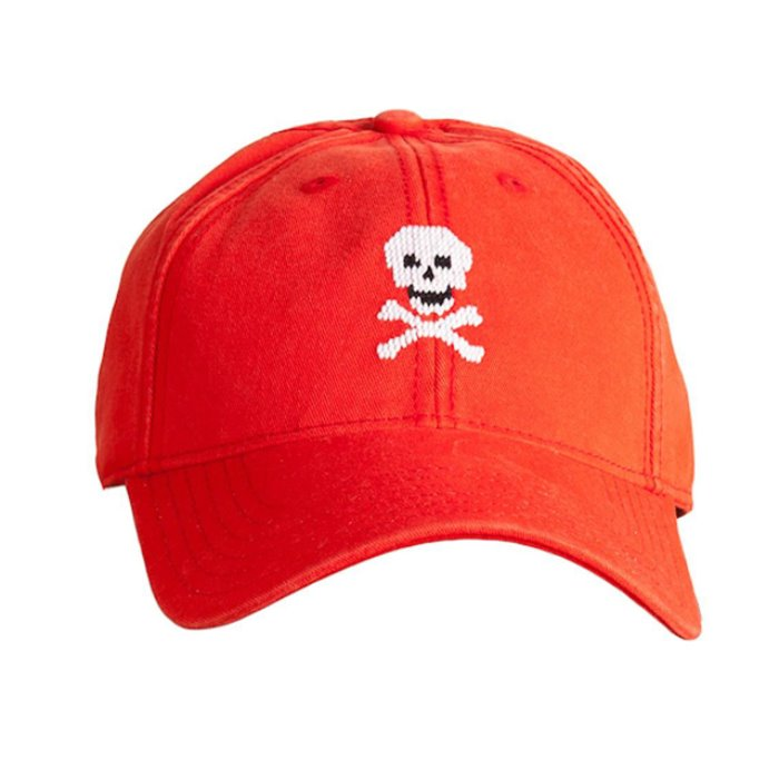 [하딩레인] Adult`s Hats Skull and Bones on neon red - 풋셀스토어