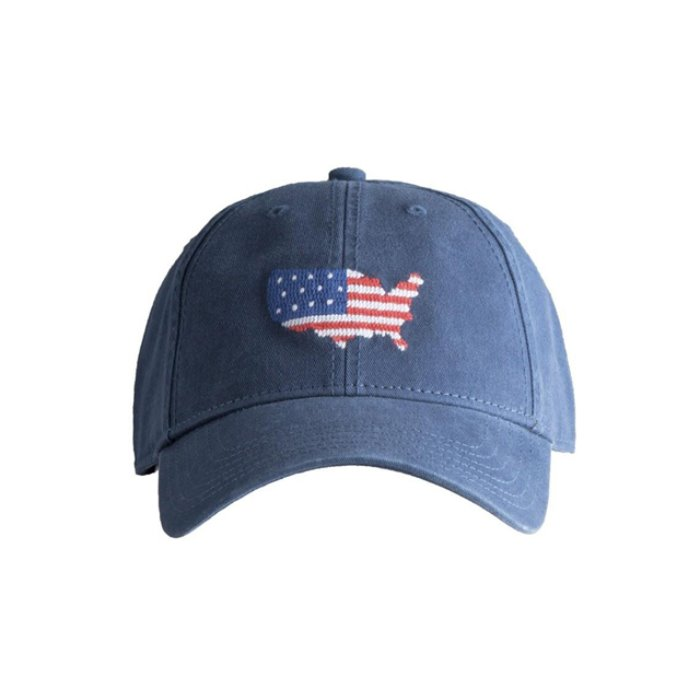 [하딩레인] Adult`s Hats USA on Navy blue - 풋셀스토어