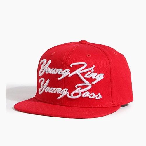 [808hats] 808스냅백, Young King Young Boss Red, 도끼스냅백