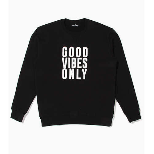 [808hats] 808 맨투맨, Good VIbes Only Crewneck Black, 도끼맨투맨