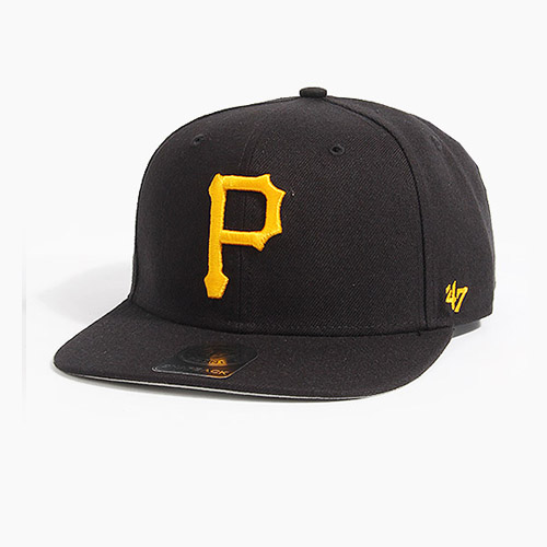 [47BRAND] Sure Shot Snapback Pirates(Black), 스냅백 - 풋셀스토어
